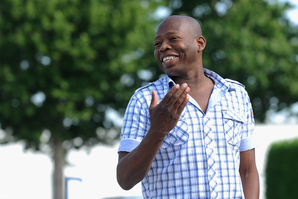 Faustino Asprilla visits his former club as FC Parma players and staff prepare to depart for their pre-season training camp in Levico Terme on July 11, 2011 in Parma, Italy