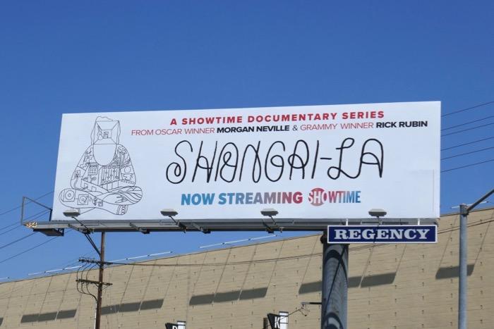 Shangri-La series premiere billboard
