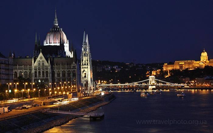 Фотография Будапешта с ограждения моста