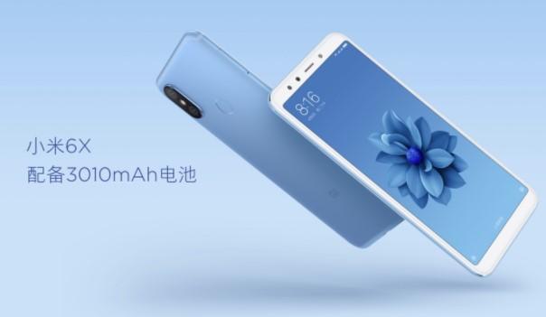 Gambar Xiaomi Mi 6x atau MI A2 dengan kapasitas baterai