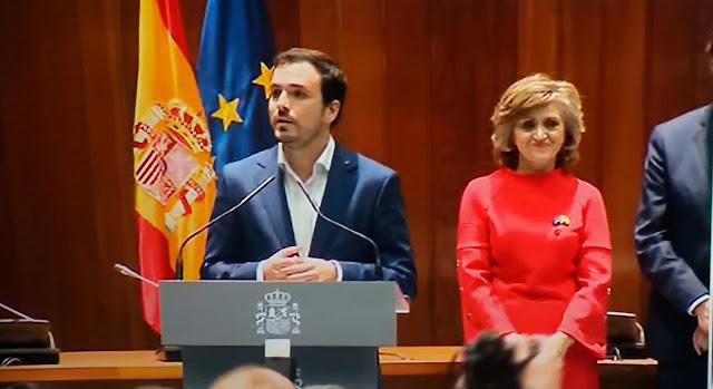 Alberto Garzón toma posesión como ministro de Consumo