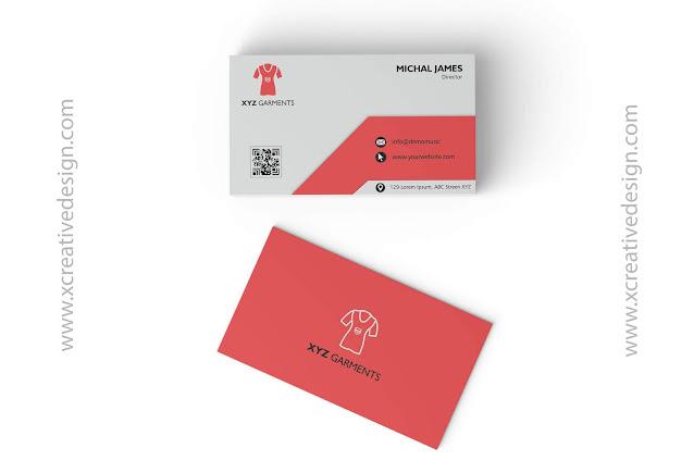 Garments Visiting Card Design