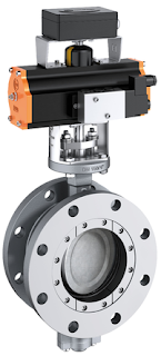 high performance butterfly valve double offset double eccentric with actuator