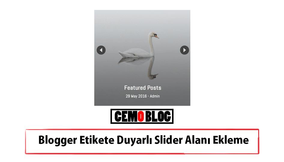 Blogger Etikete Duyarlı Otomatik Slider Eklentisi