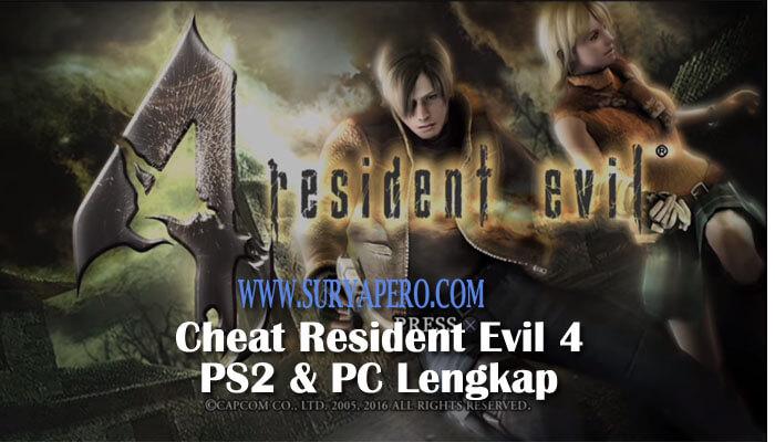 cheat resident evil 4 ps2
