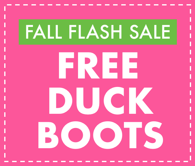 monogrammed duck boots flash sale