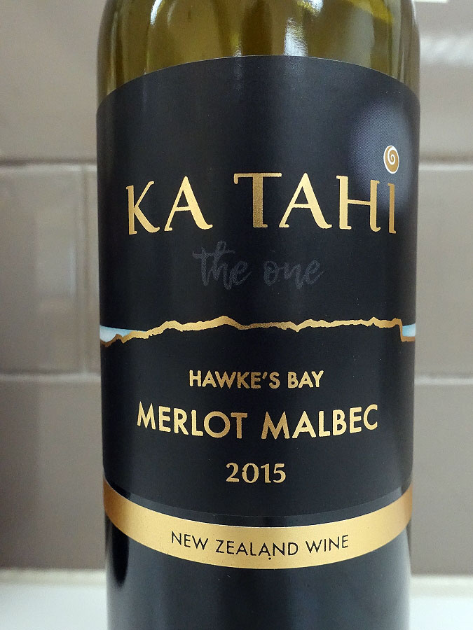 Ka Tahi Merlot/Malbec 2015 (90 pts)