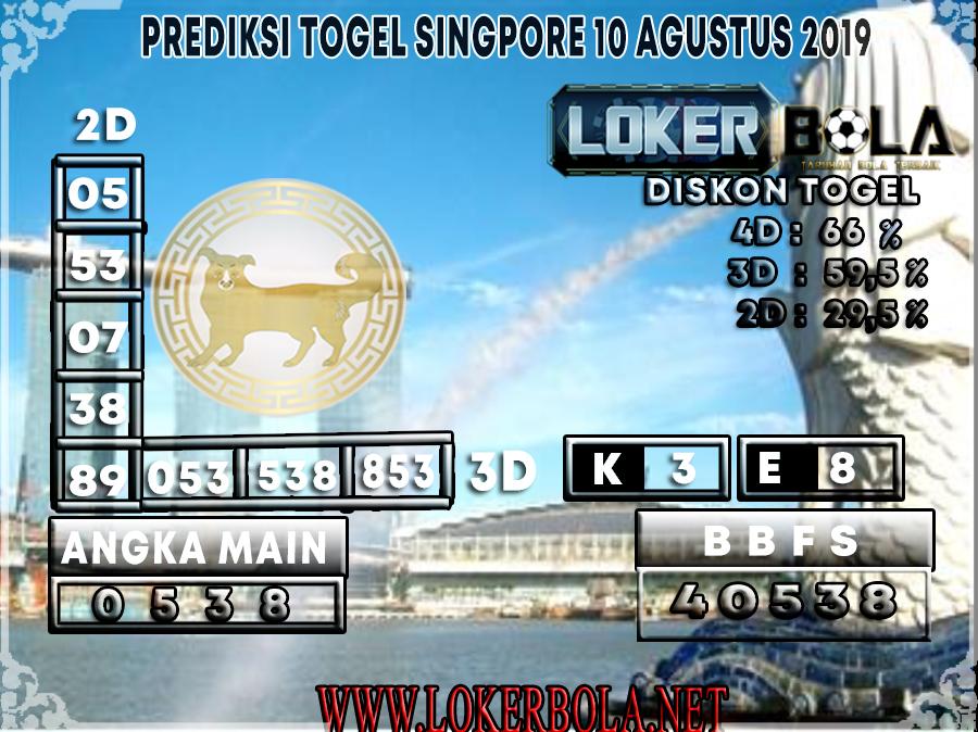 PREDIKSI TOGEL SINGAPORE LOKERBOLA 10 AGUSTUS 2019