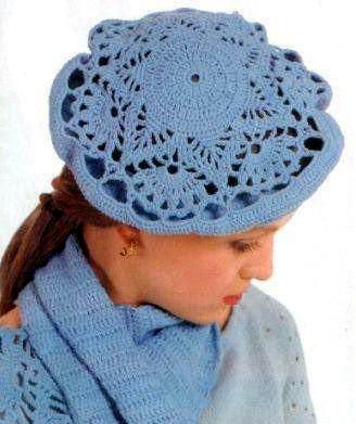 Patrón #1084: Boina Encaje a Crochet.