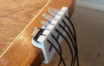 Organizador de cables USB para escritorio