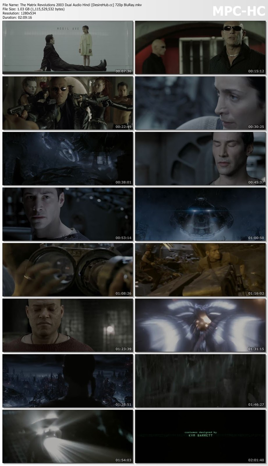 The Matrix Revolutions 2003 Dual Audio Hindi 720p BluRay 1GB Desirehub