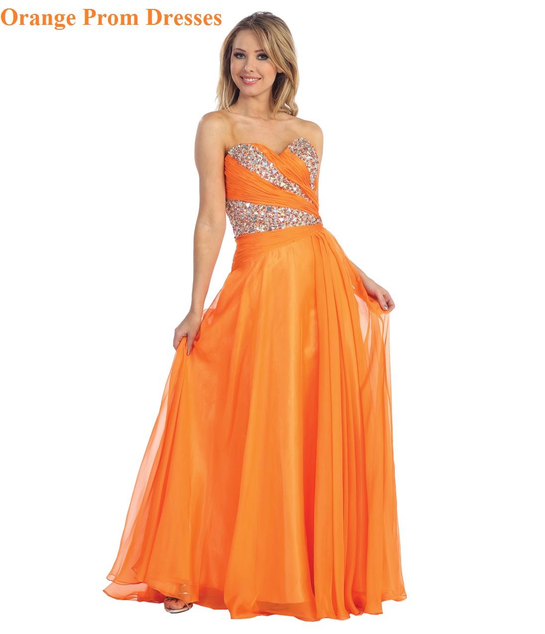 Orange Prom Dresses - Orange Dresses for Prom ~ Simply