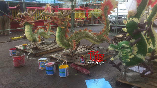 gambar patung Naga Kelenteng Hok Tek Che Belitung