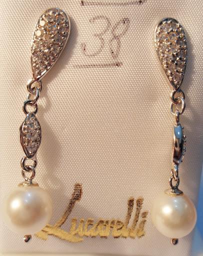Pendientes de perla y plata con circonitas