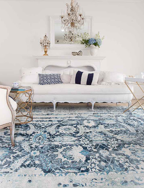 navy blue rug french home