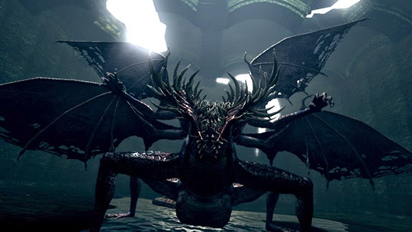 dark souls video game 2011 gaping dragon boss