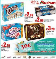Logo Con Auchan e Algida vinci 100 buoni spesa da 30 euro