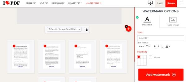Cara Membuat Watermark di PDF Online