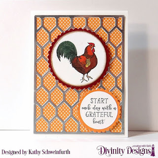 Rise & Shine, Custom Dies: Chicken Wire Background, Scalloped Circles, Circles, Paper Collection: Fall Favorites