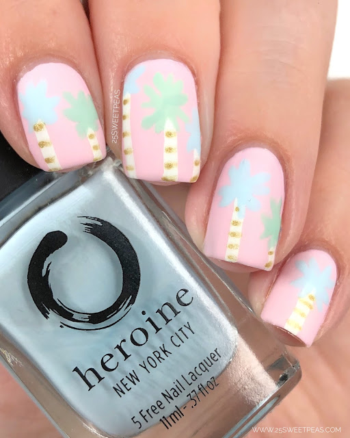 Palm Tree Nail Art 25 Sweetpeas