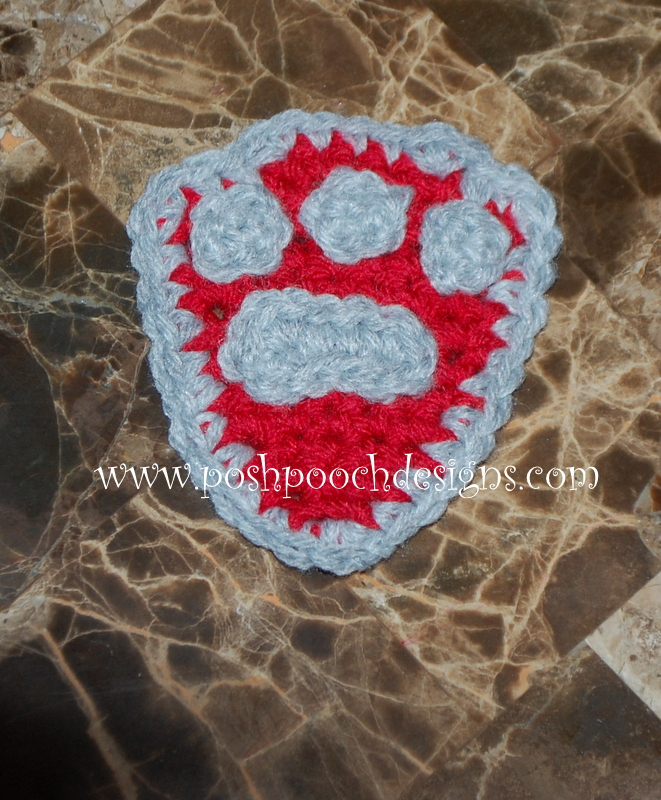 Posh Pooch Designs Dog Clothes: Paw Patrol Badge Crochet ...