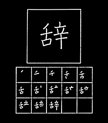 kanji berhenti