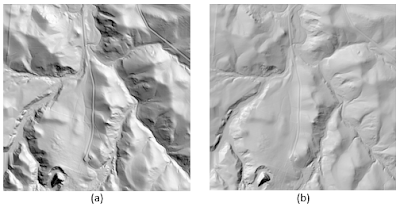 Hillshading with different parameters