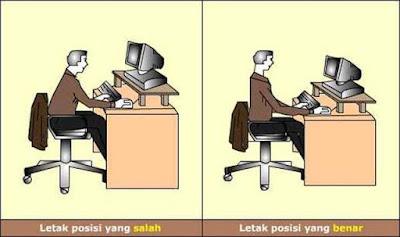 Posisi Duduk Menggunakan Komputer