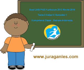 Contoh Soal UAS/ PAS Tema 3 Bahasa Indonesia Kelas 4 Semester 1 K13 Revisi 2018