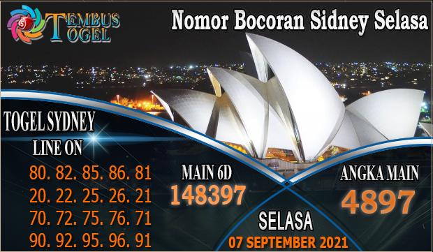 Nomor Bocoran Sidney Selasa, 07 September 2021 Tembus Togel