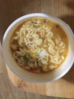 cup noodles with hot water after 4 minutes