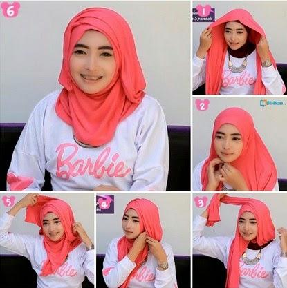 5 Tutorial Hijab Kebaya Wisuda Segi Empat