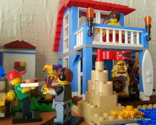 LEGO Series 12 minifigures in LEGO Beach HOuse