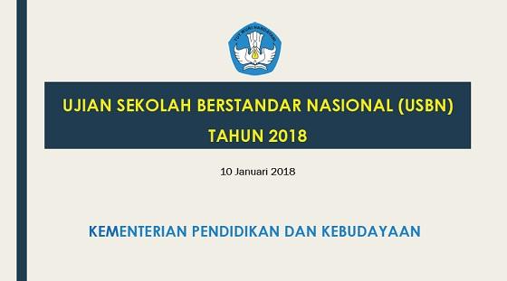 Ujian Sekolah Berstandar Nasional (USBN) SD Tahun 2018 Hanya 3 Mata Pelajaran