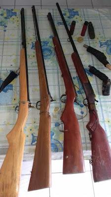 Operação resulta na apreensão de armas de fogo e de munições em São Benedito do Rio Preto