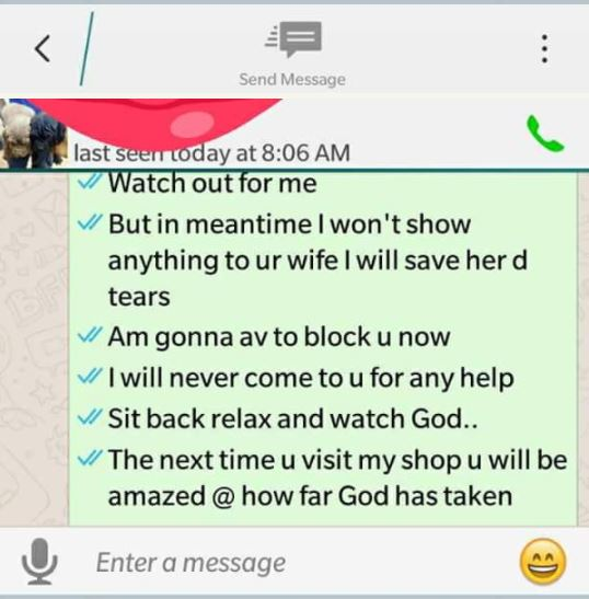 [Sad] Married Man Exposed On Facebook After Begging His Wife's Friend for S*x (See WhatsApp Chat) bunm6