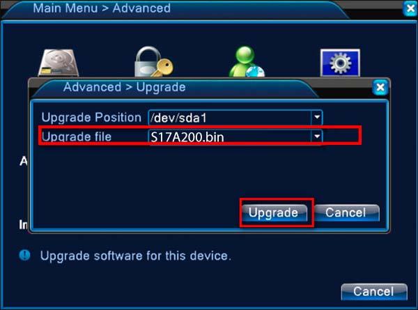 H.264 DVR firmware upgrade