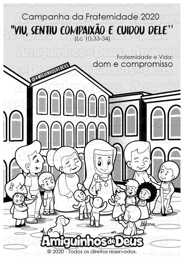 Campanha da Fraternidade 2020 desenho para colorir