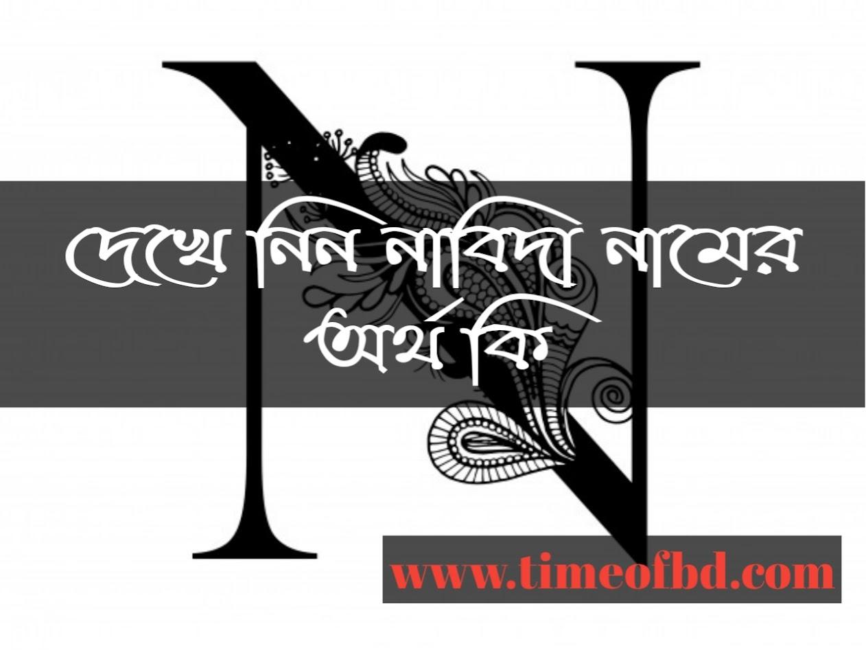 Nabida name meaning in Bengali, নাবিদা নামের অর্থ কি, নাবিদা নামের বাংলা অর্থ কি, নাবিদা নামের ইসলামিক অর্থ কি,