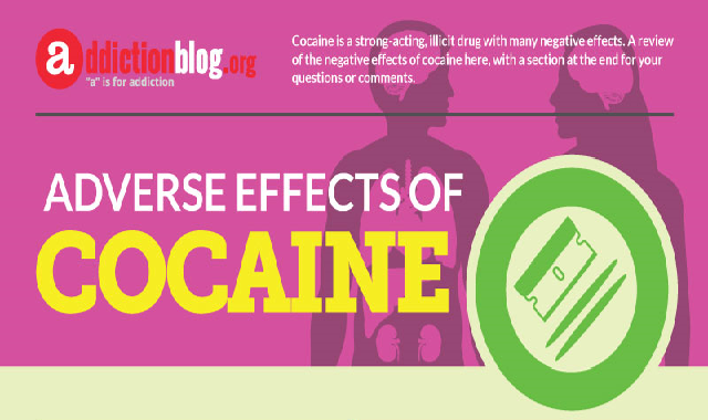 Adverse effects of cocaine #infographic