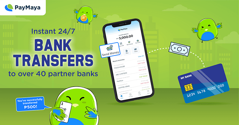 PayMaya now supports instant Bank Transfers 24/7!
