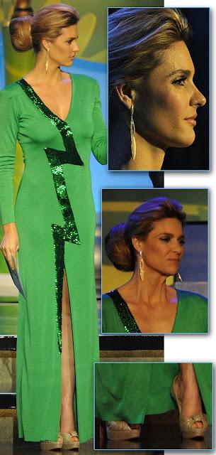 O vestido  da Fernanda Lima no sorteio da Copa