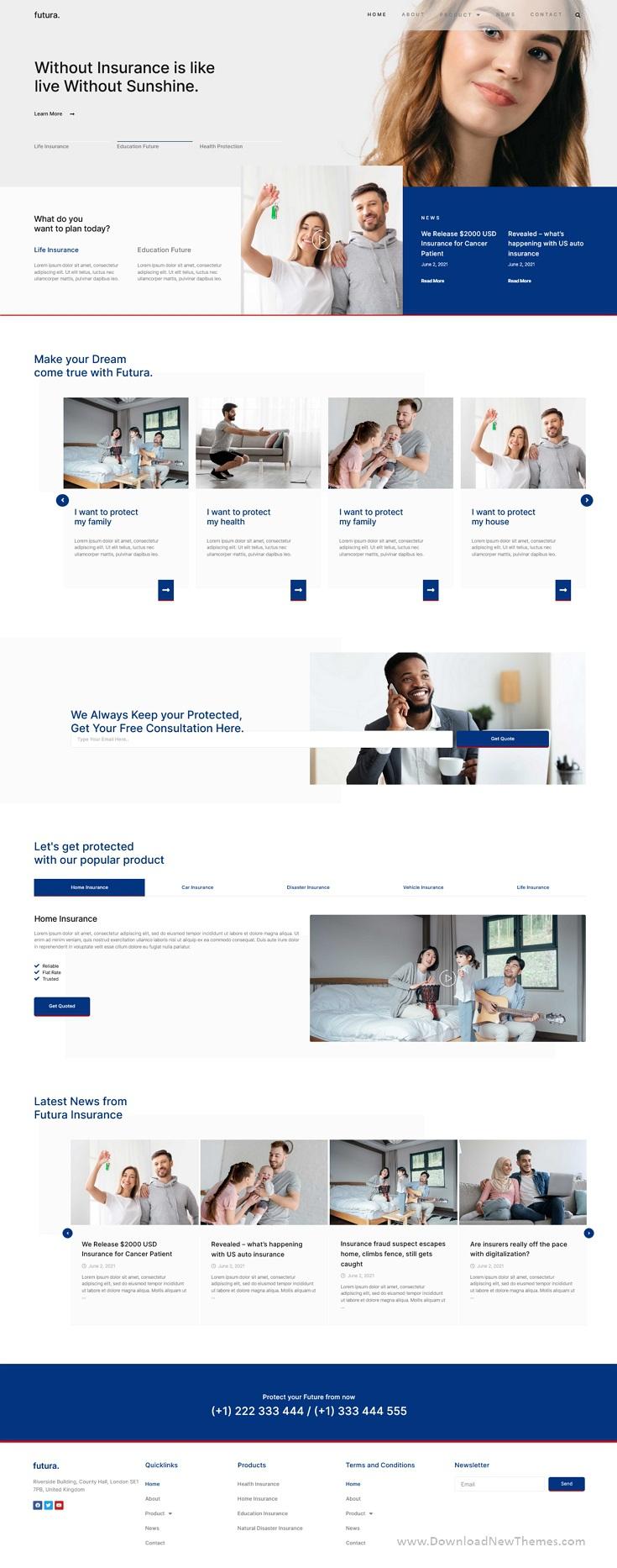 Insurance Elementor Template Kit