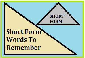 Top 50 Short Form Words To Remember