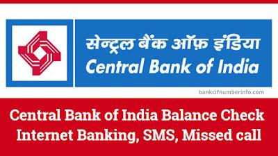 Central Bank of India Balance Check