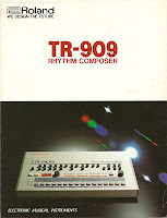 retro synth ads roland tr 909 drum machine four page brochure 1984. Black Bedroom Furniture Sets. Home Design Ideas