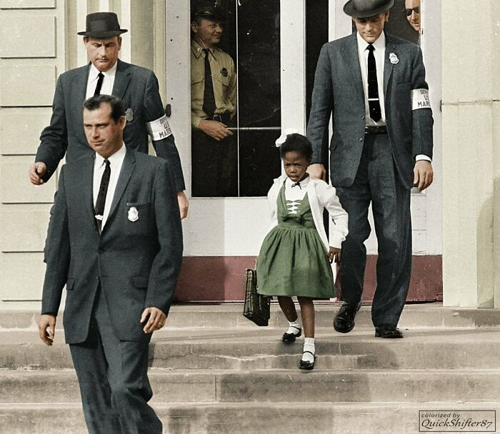 #18 Ruby Bridges, The First African-American To Attend A White Elementary School In The Deep South, 1960