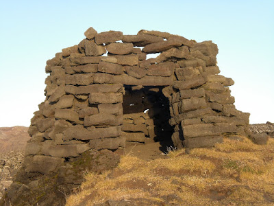 Fisherman's hut in Selatangar lava field Iceland. Photo by Michael Ridpath, author of the Magnus series of crime novels.