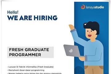 Lowongan Kerja Fresh Graduate Programmer Lanaya Studio Bandung