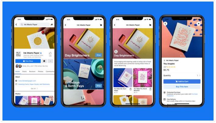 ميزة فيسبوك الجديدة Facebook Shops ستساعد المشاريع الصغيرة على تحويل صفحاتها إلى متاجر إلكترونية.